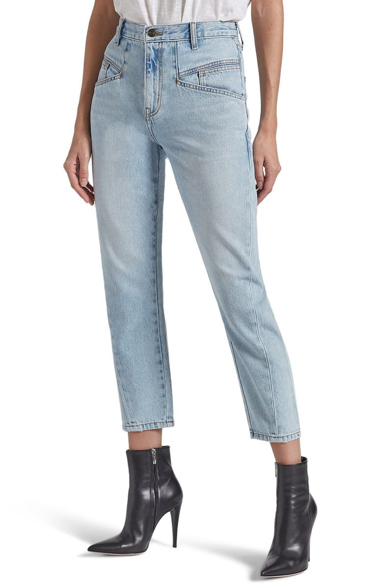 CURRENT/ELLIOTT The Helix High Waist Crop Jeans, Main, color, WENTWORTH