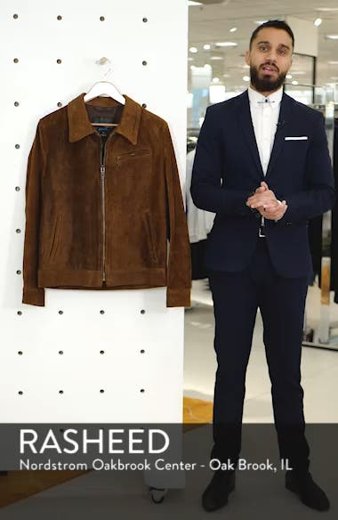Unlined Rough Out Oiled Cowhide Trucker Jacket, sales video thumbnail