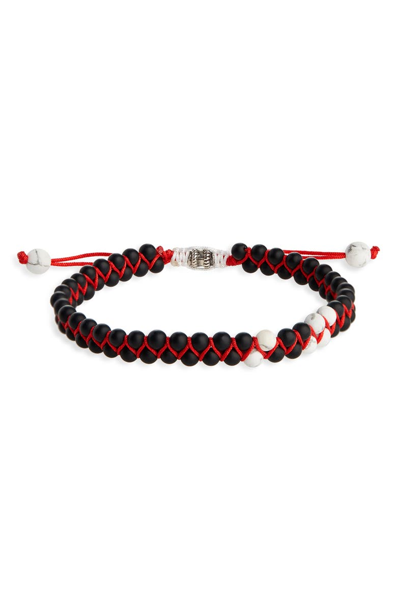 JONAS STUDIO Double Woven Bracelet, Main, color, BLACK/ RED