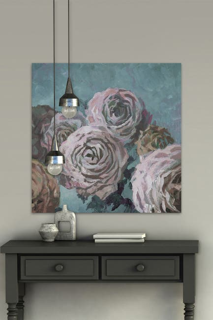 """Image of Marmont Hill Inc. Timeless Bloom Painting Print on Wrapped Canvas - 32"""" x 32"""""""