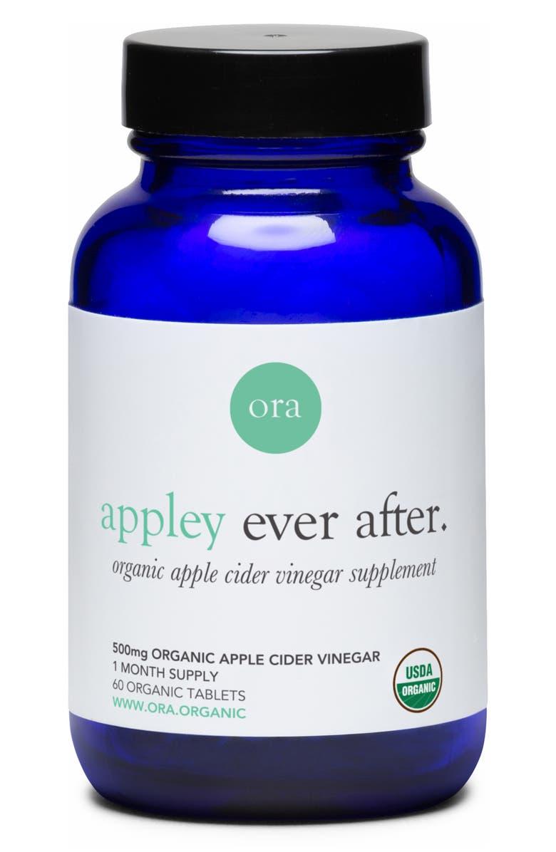 ORA ORGANIC Appley Ever After Organic Apple Cider Vinegar Dietary Supplement, Main, color, 000