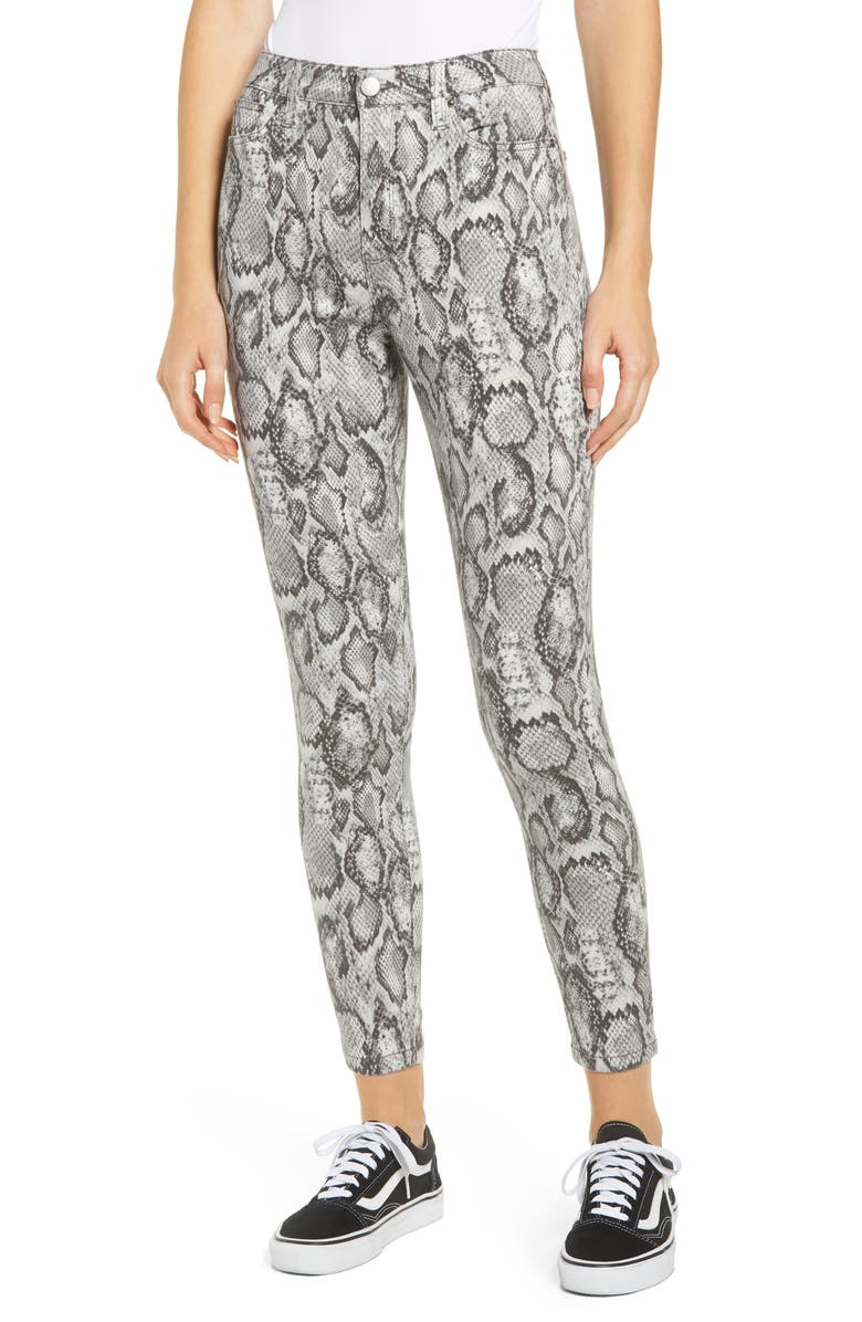 Snake Print High Waist Jeggings by Tinsel