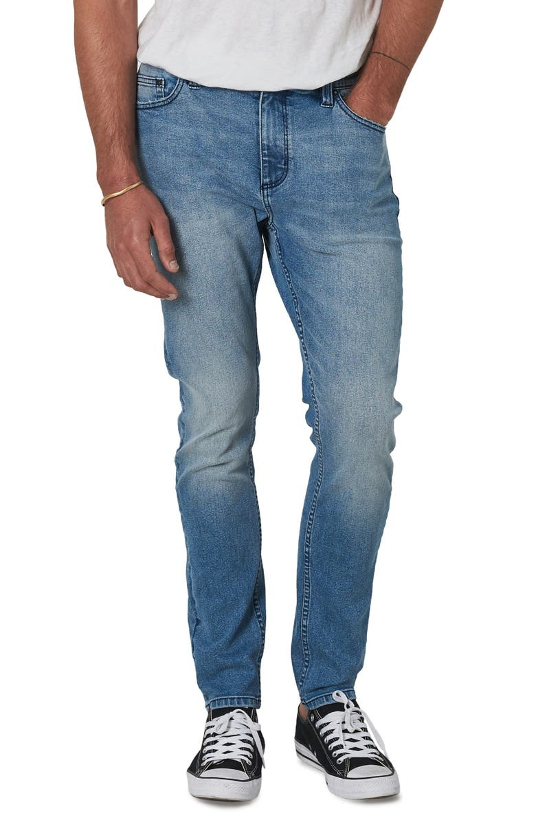 ROLLA'S Tim Slims Fast Times Worn Slim Fit Jeans, Main, color, LIGHT BLUE