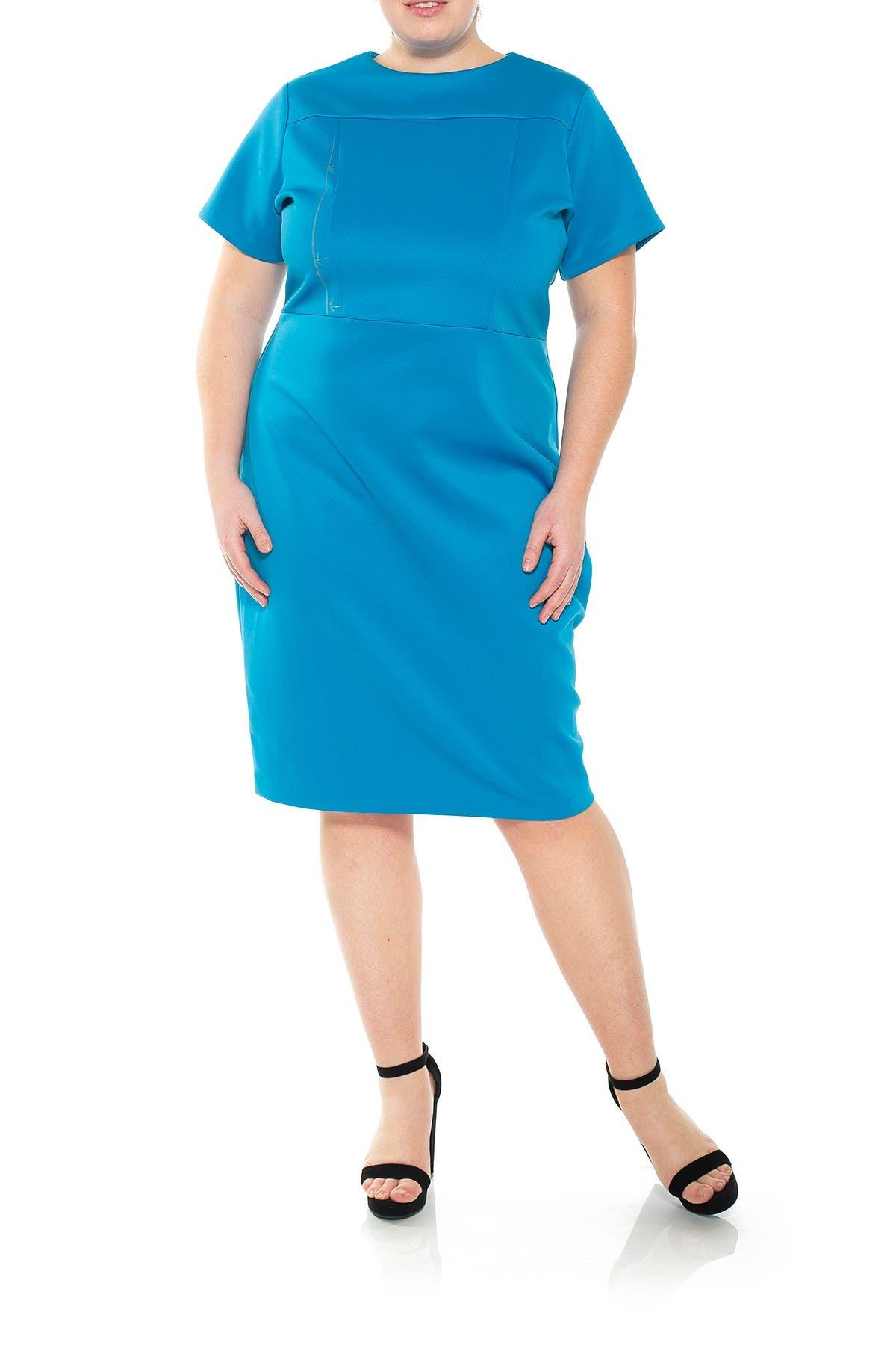 Image of Alexia Admor Ava Floral Midi Scuba Dress
