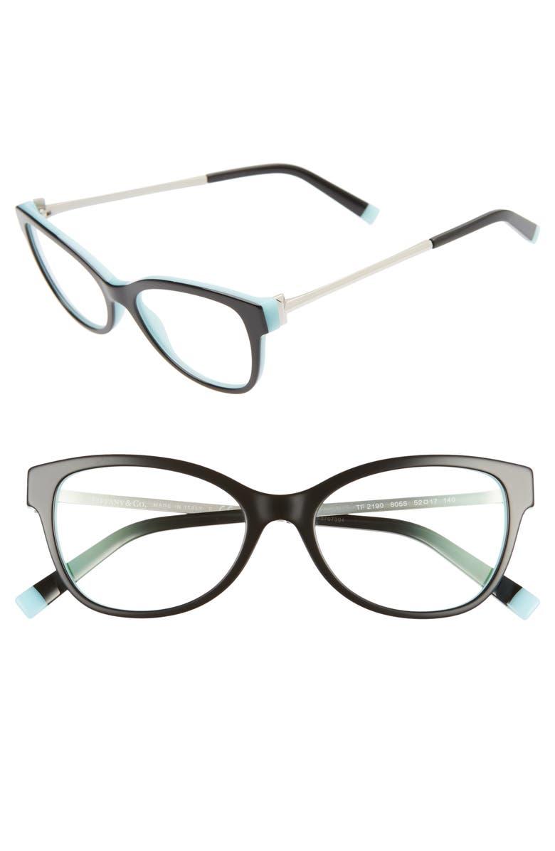 TIFFANY & CO. 52mm Optical Glasses, Main, color, 001