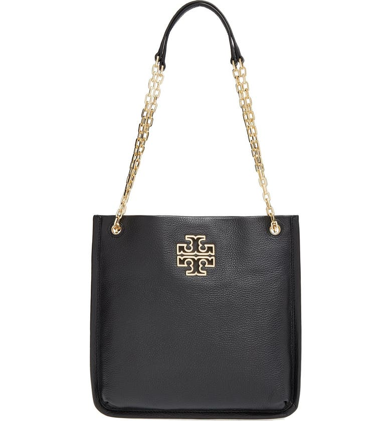 TORY BURCH 'Britten' Leather Swingpack, Main, color, 001