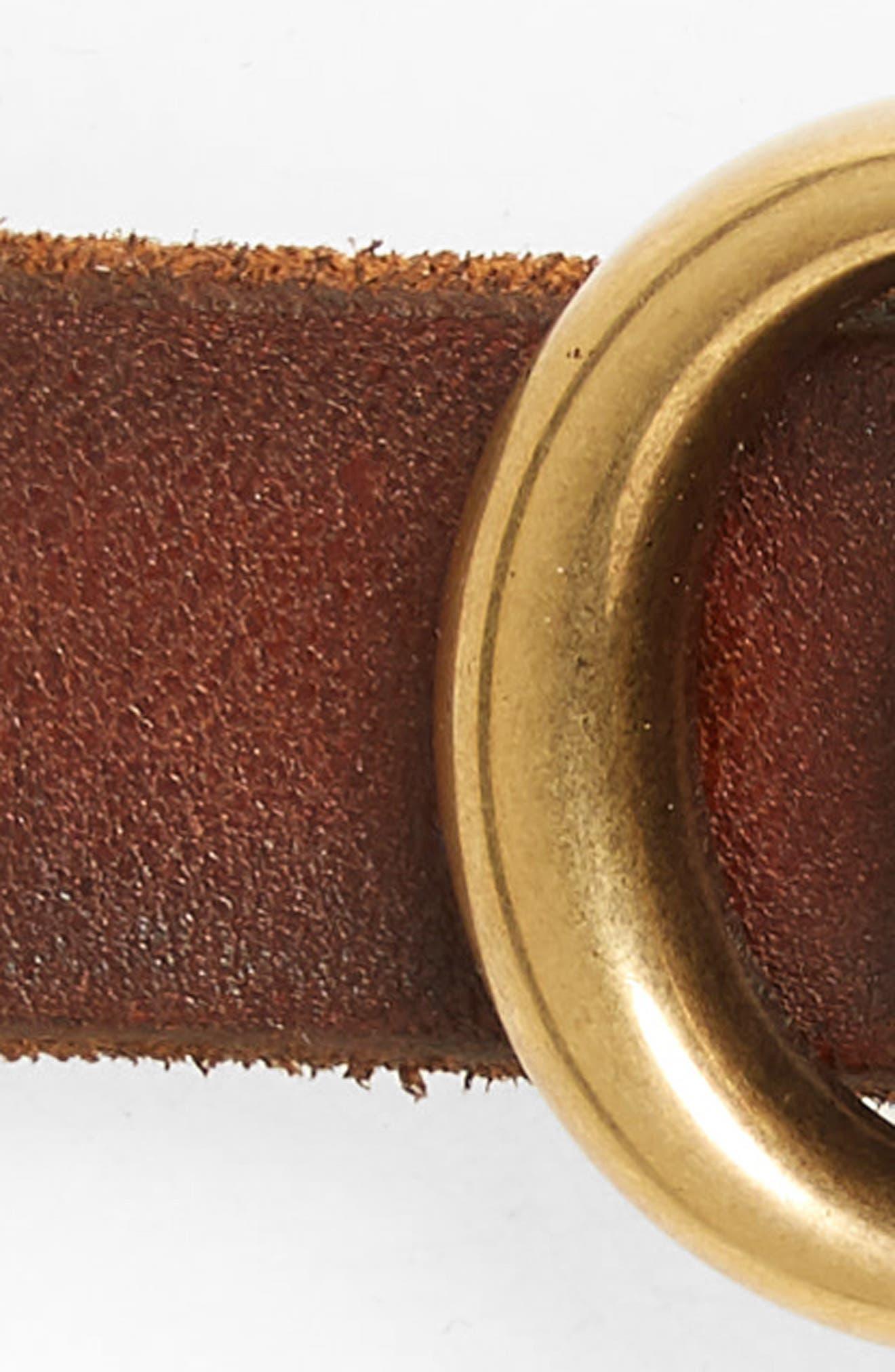 ,                             Leather Belt,                             Alternate thumbnail 3, color,                             CUIR