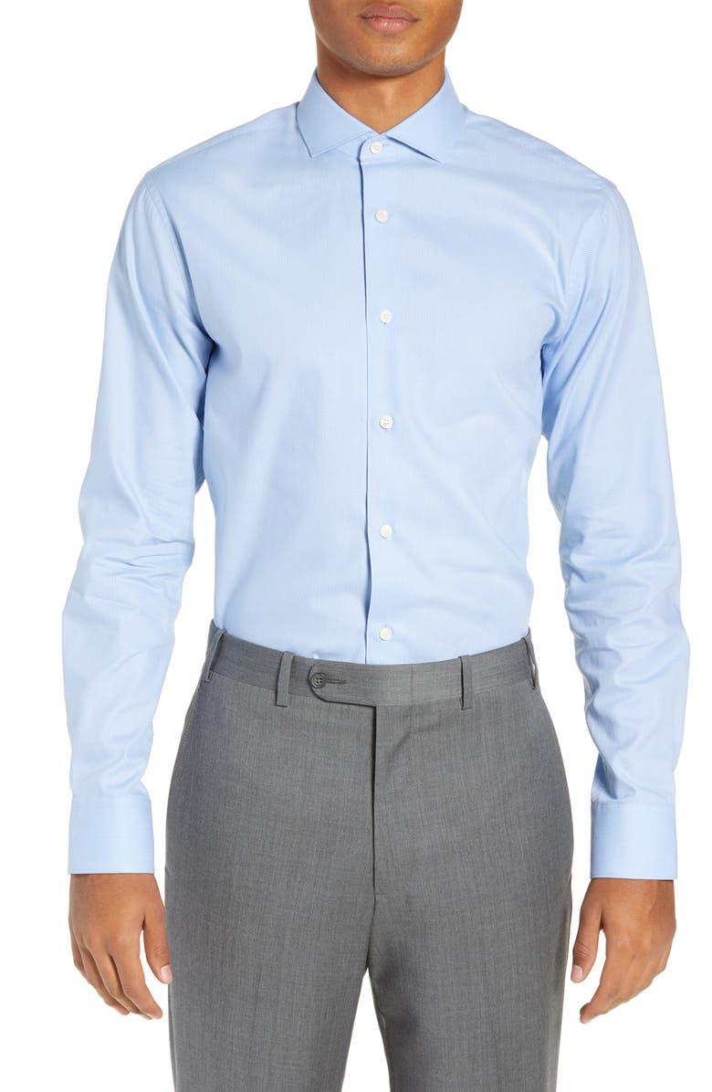 TIGER OF SWEDEN Farrell Extra Slim Fit Dot Dress Shirt, Main, color, 400