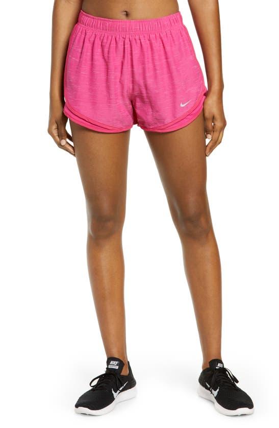 Nike Women's Dri-fit Tempo Running Shorts In Fireberry