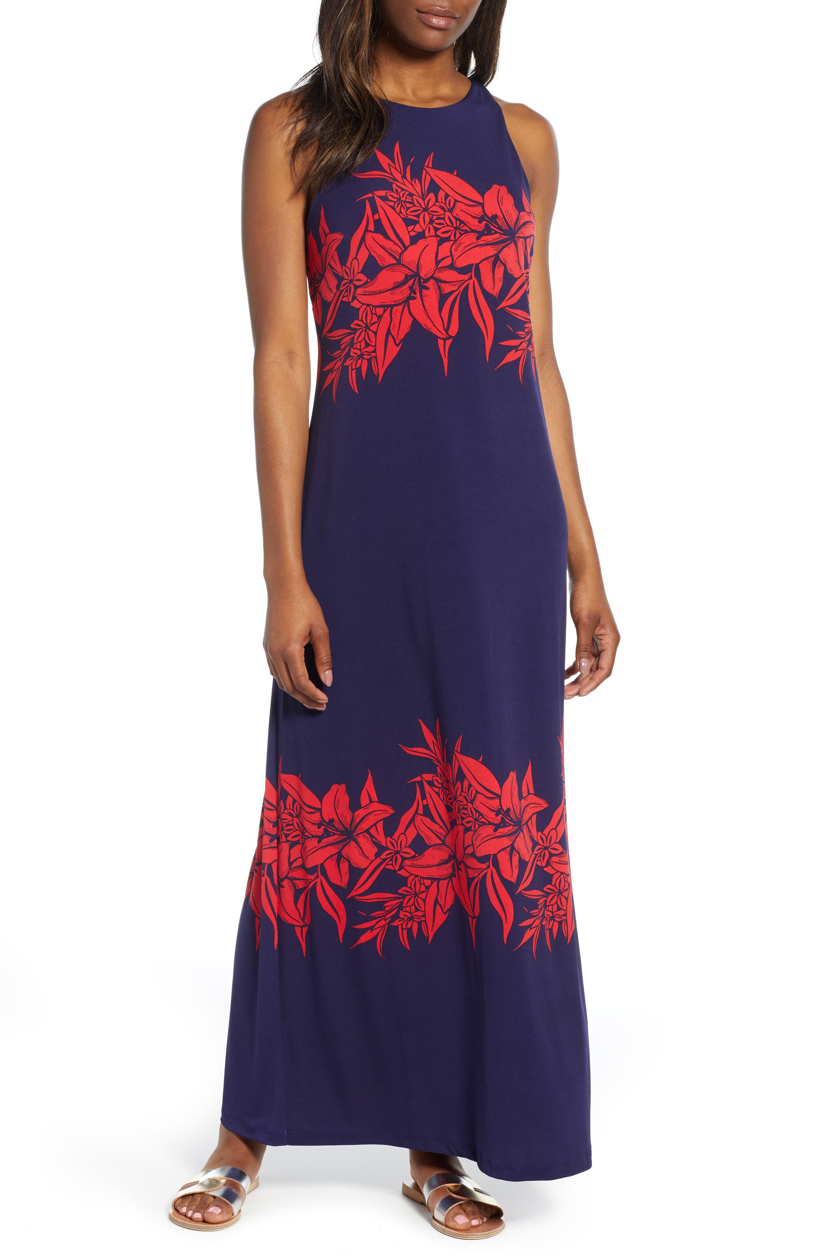 Tommy Bahama Flowers Of Pisa Maxi Dress, Blue