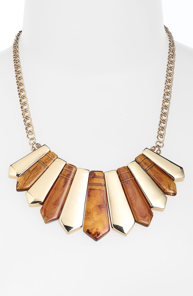 SPRING STREET Design Group Resin & Metal Necklace, Main, color, 710