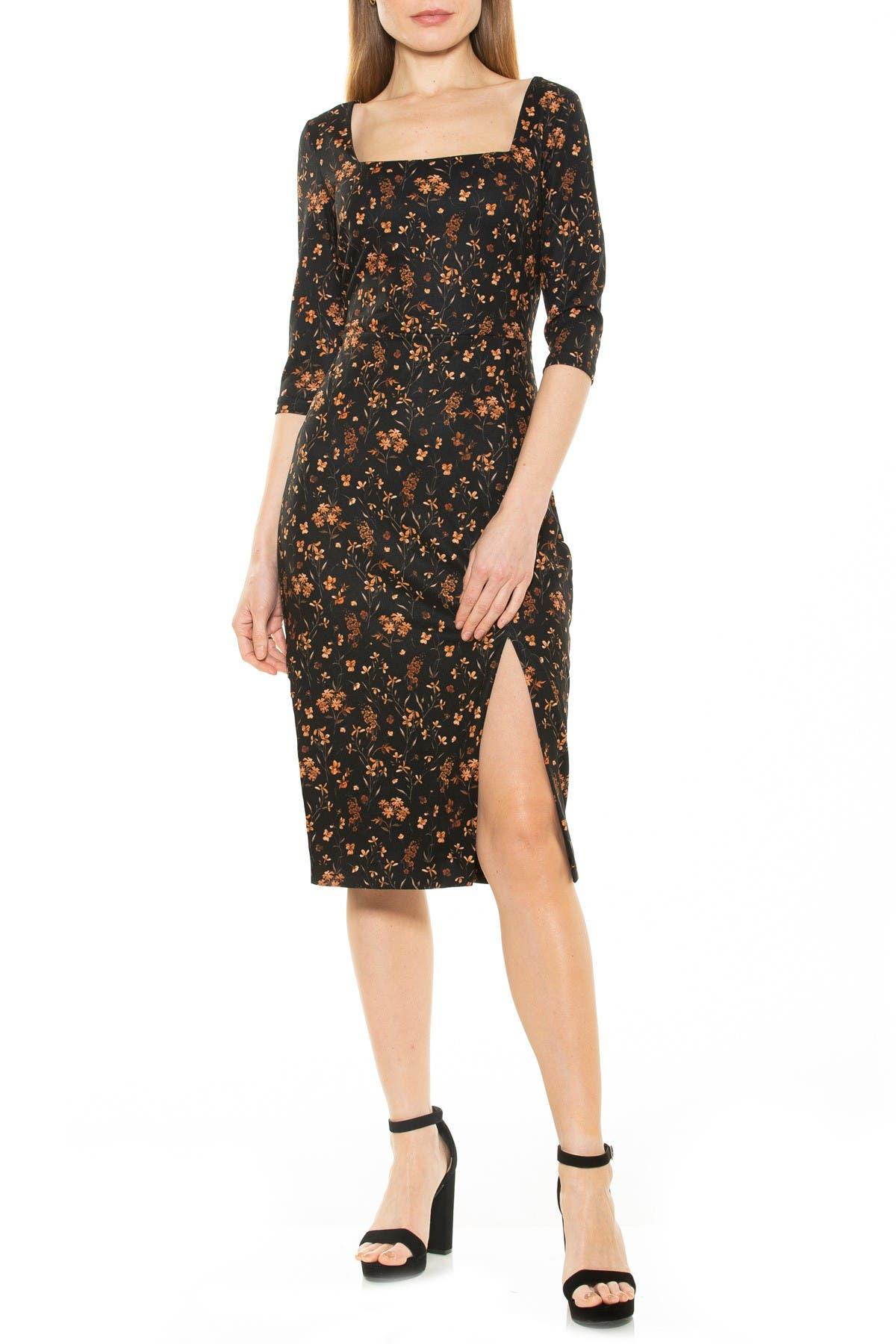 Image of Alexia Admor Emily Square Neck Midi Dress