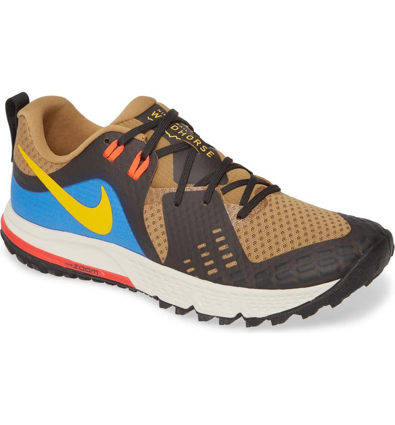 NIKE Air Zoom Wildhorse 5 Trail Running Shoe, Main, color, BEECHTREE/ UNIVERSITY GOLD
