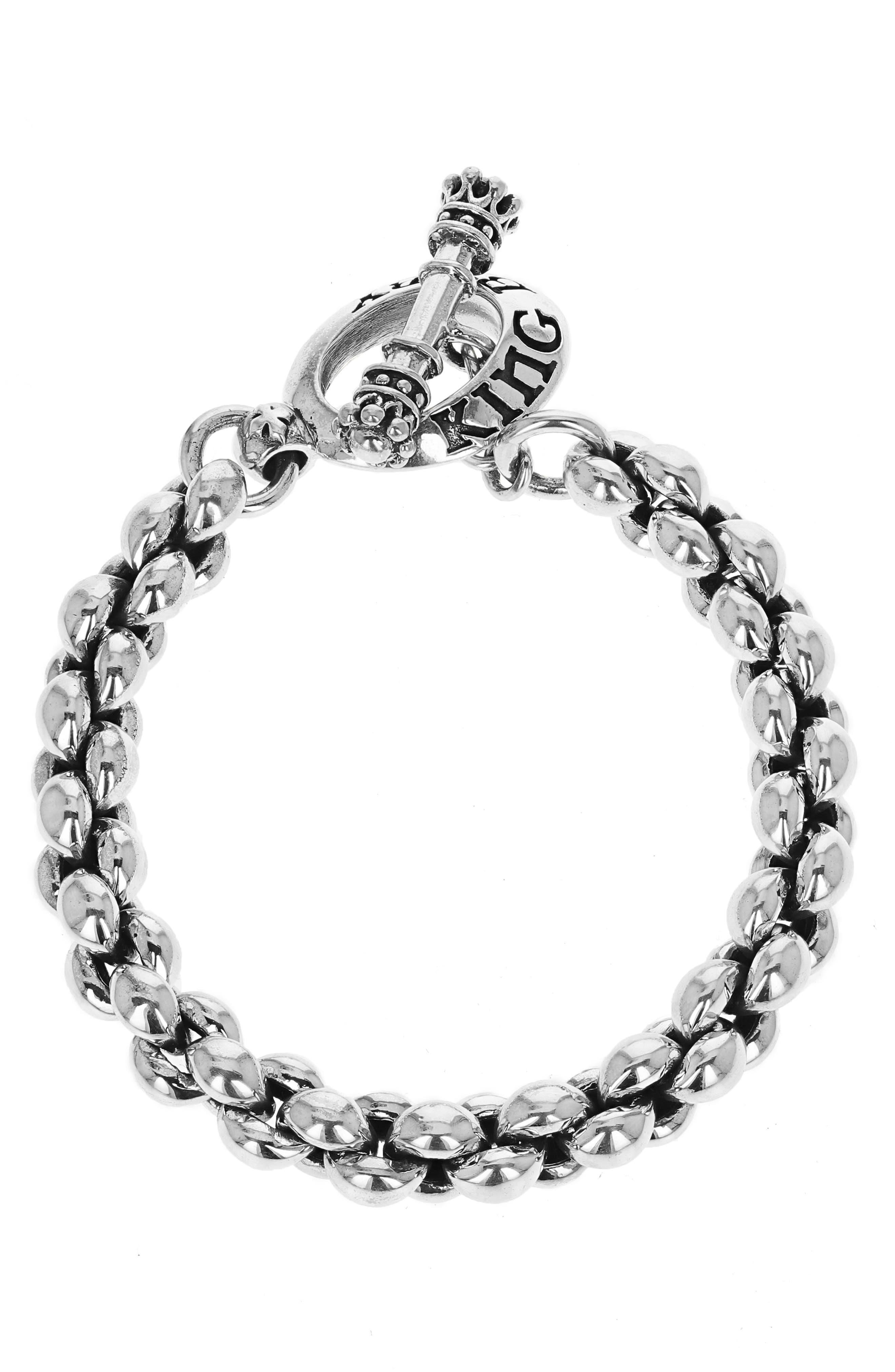 Large Infinity Link Bracelet