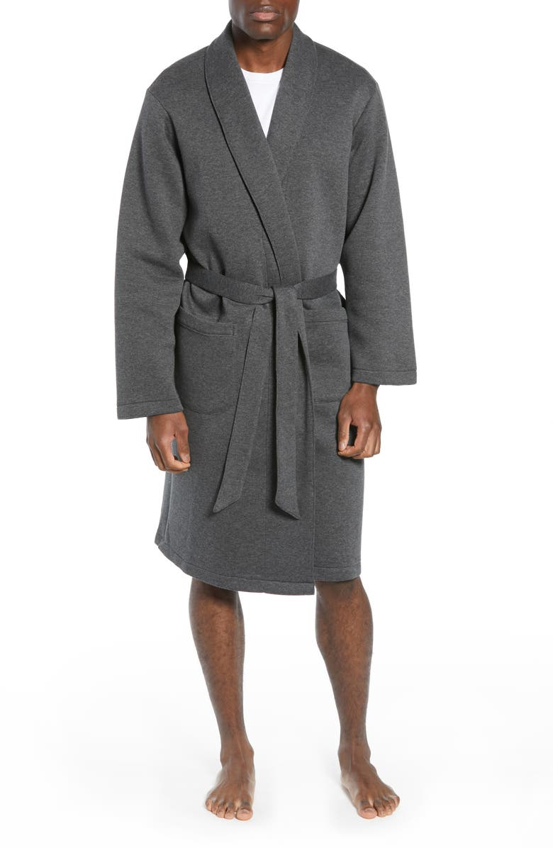 NORDSTROM MEN'S SHOP Piqué Robe, Main, color, 021