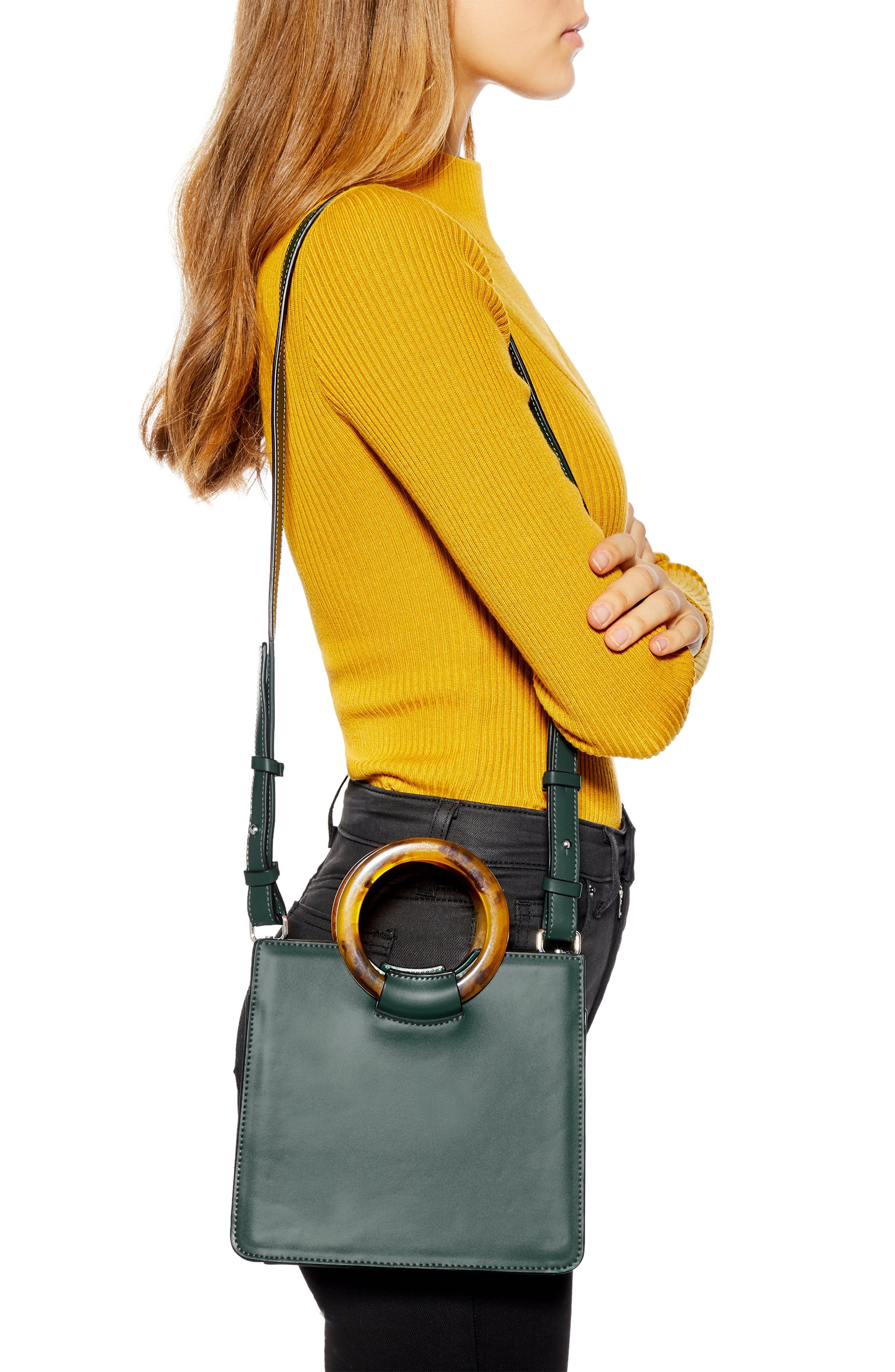 ,                             Mini Adele Faux Leather Top Handle Bag,                             Alternate thumbnail 7, color,                             300