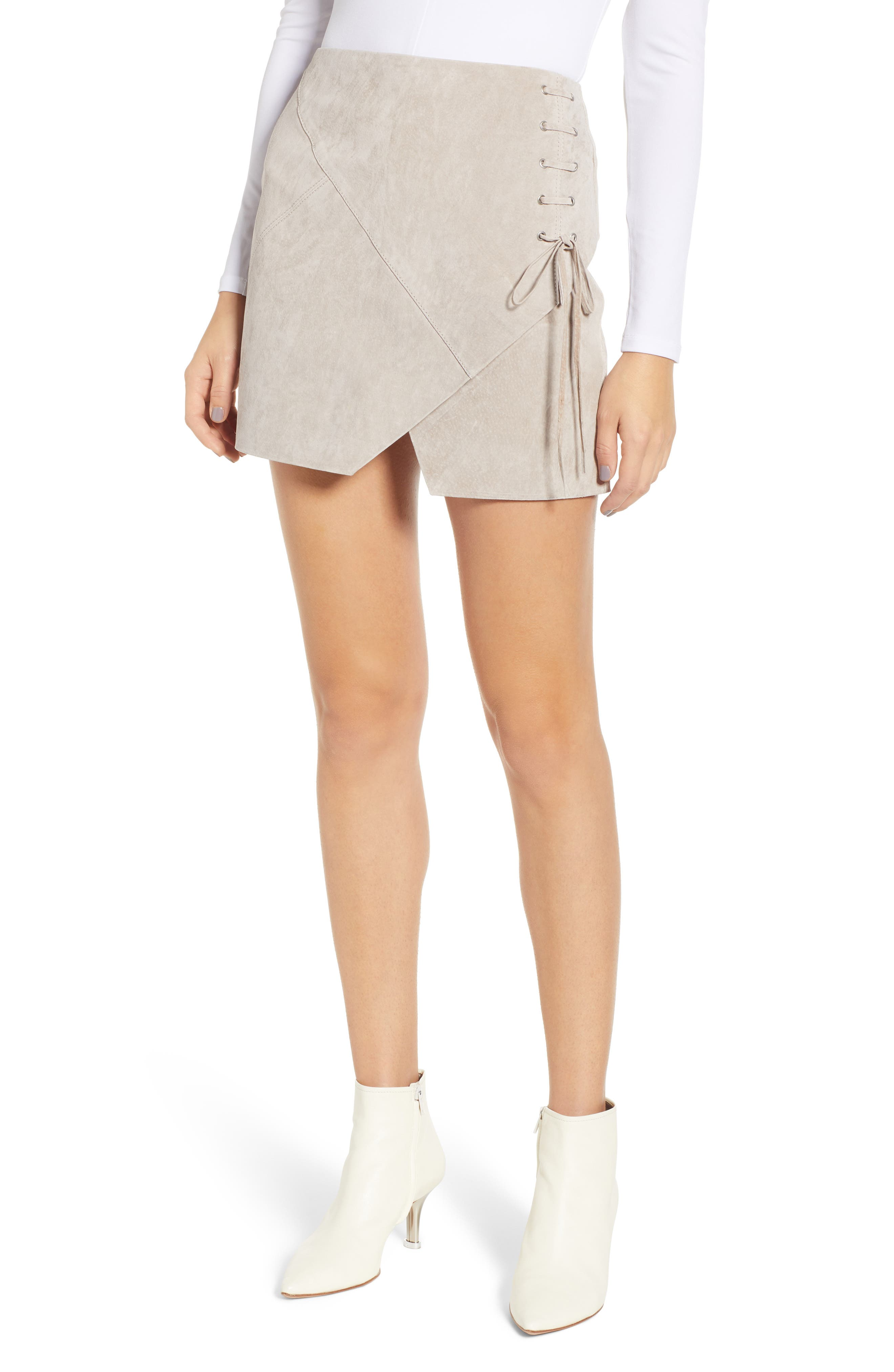 ,                             Lace-Up Suede Miniskirt,                             Main thumbnail 7, color,                             251