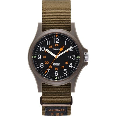 Timex Archive Acadia Nato Strap Watch, 40Mm