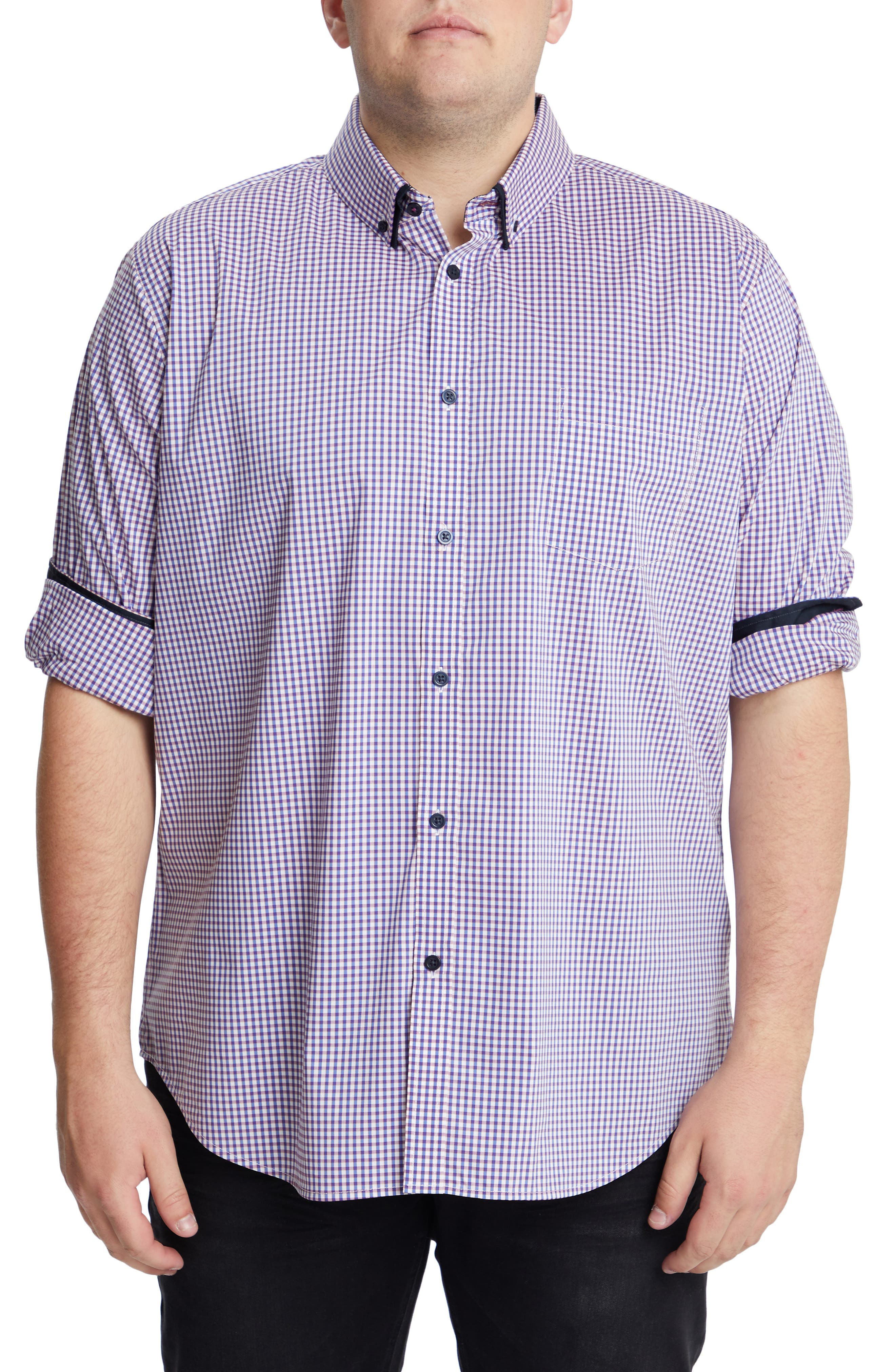 Smith Stretch Check Button-Down Shirt