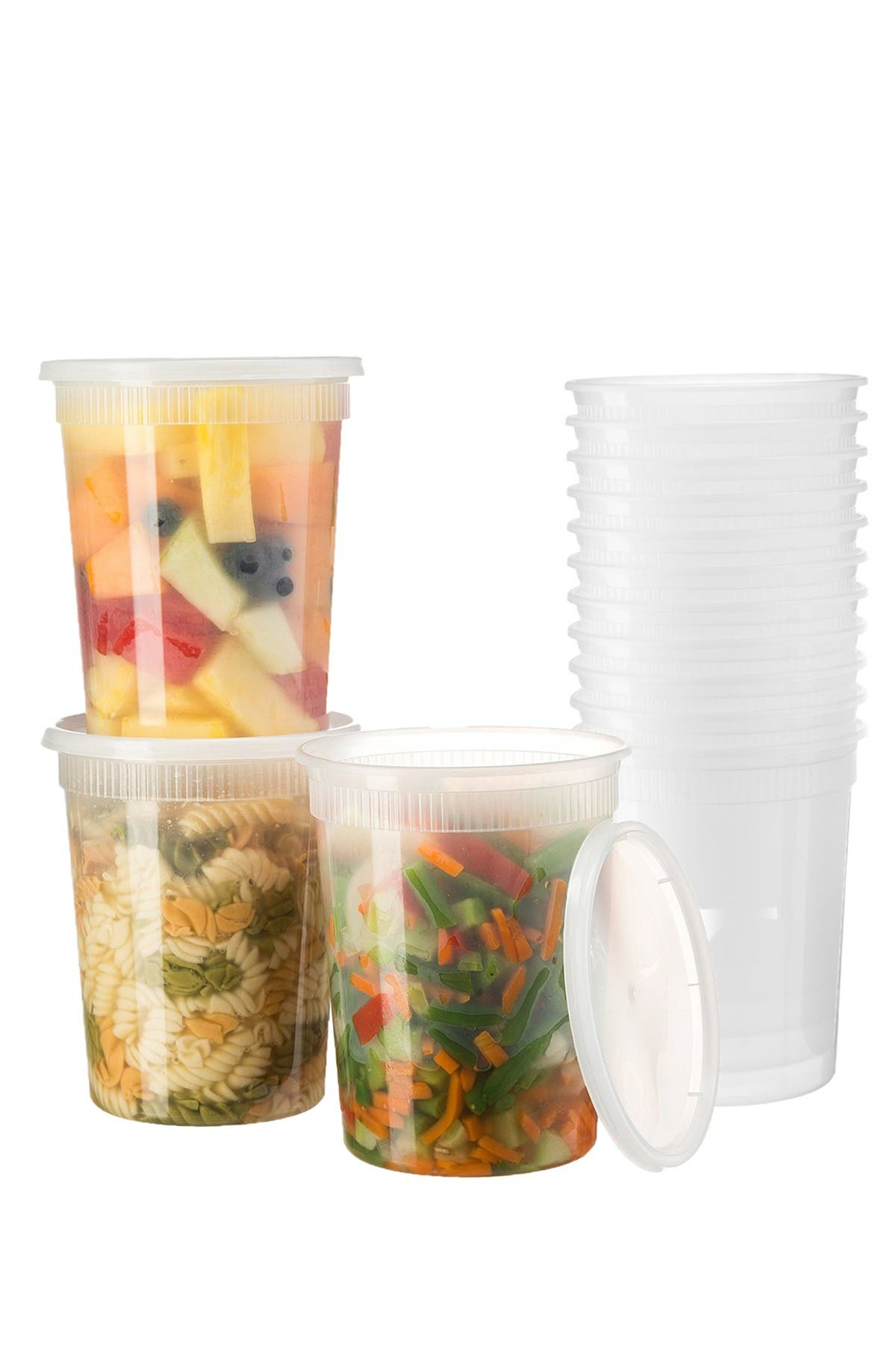 Image of Glomery 32oz. Food Storage Containers - Set of 24