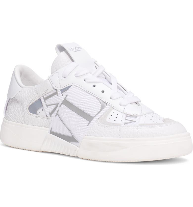 VALENTINO GARAVANI VLTN Logo Sneaker, Main, color, WHITE/ SILVER