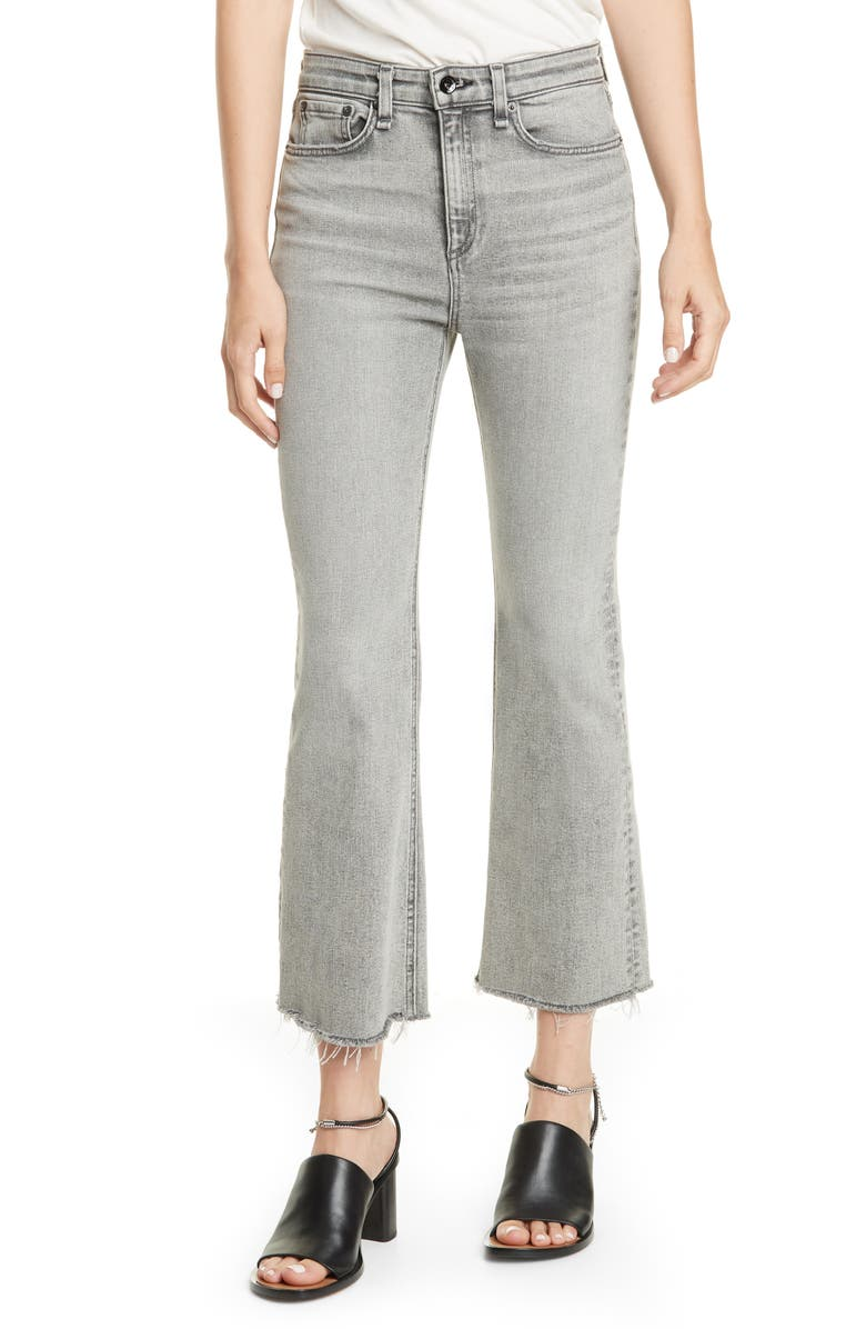 Nina High Waist Flare Ankle Jeans by Rag & Bone