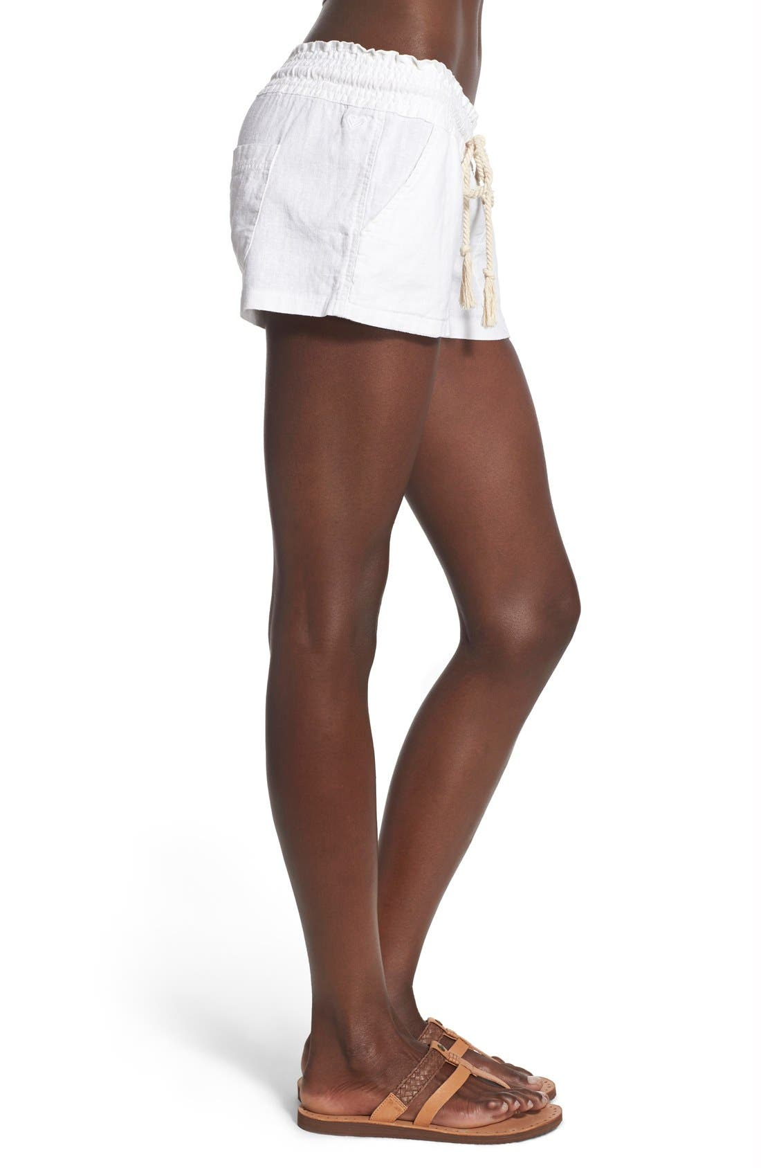 ,                             'Oceanside' Linen Blend Shorts,                             Alternate thumbnail 23, color,                             101