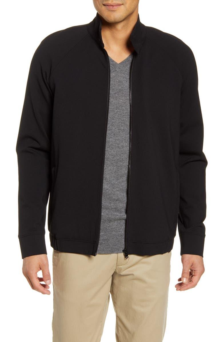PAIGE Hartfield Harrington Regular Fit Jacket, Main, color, BLACK