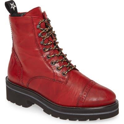 Paul Green Ceylo Combat Boot - Red