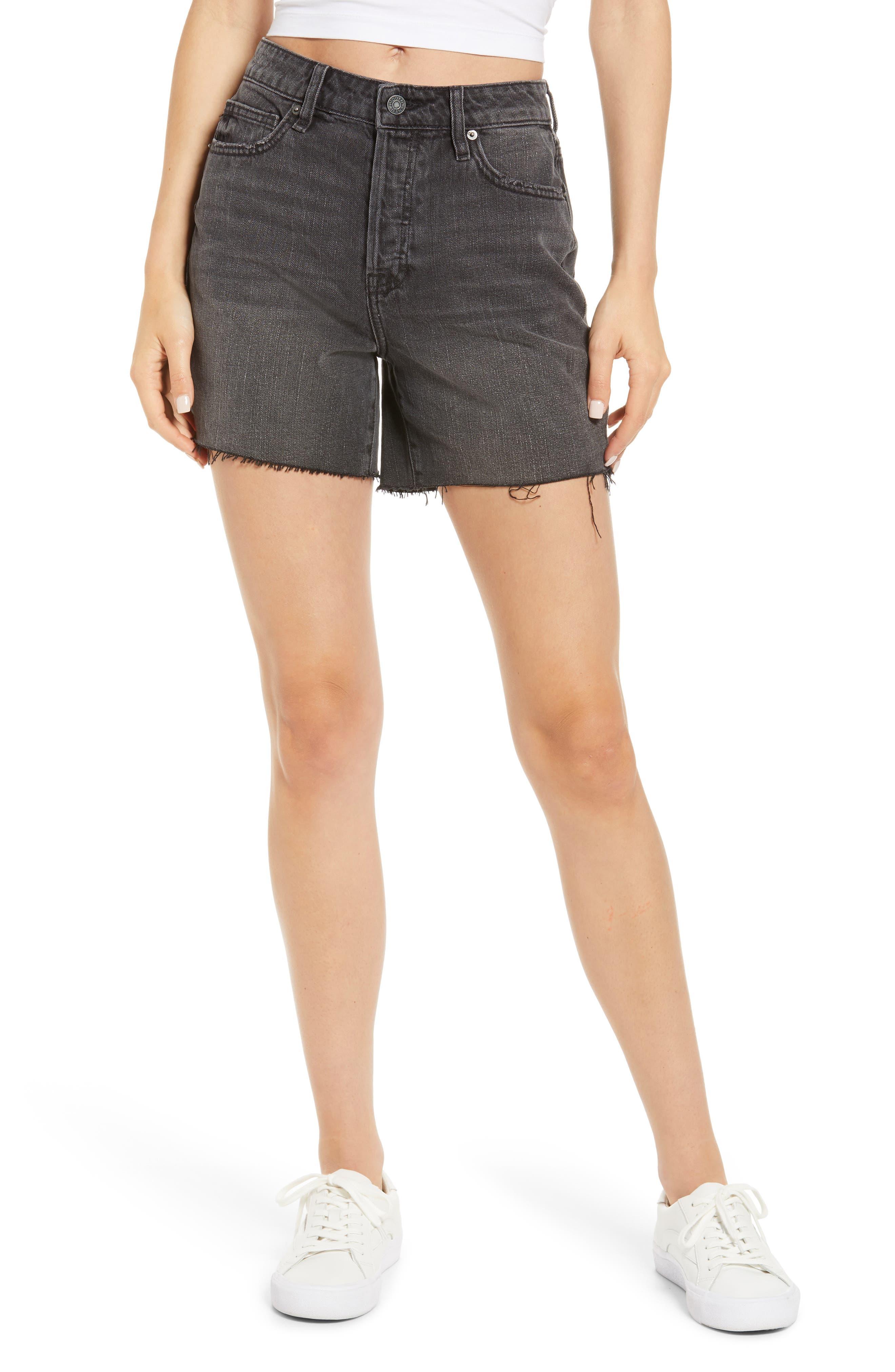 High Waist Denim Mom Shorts