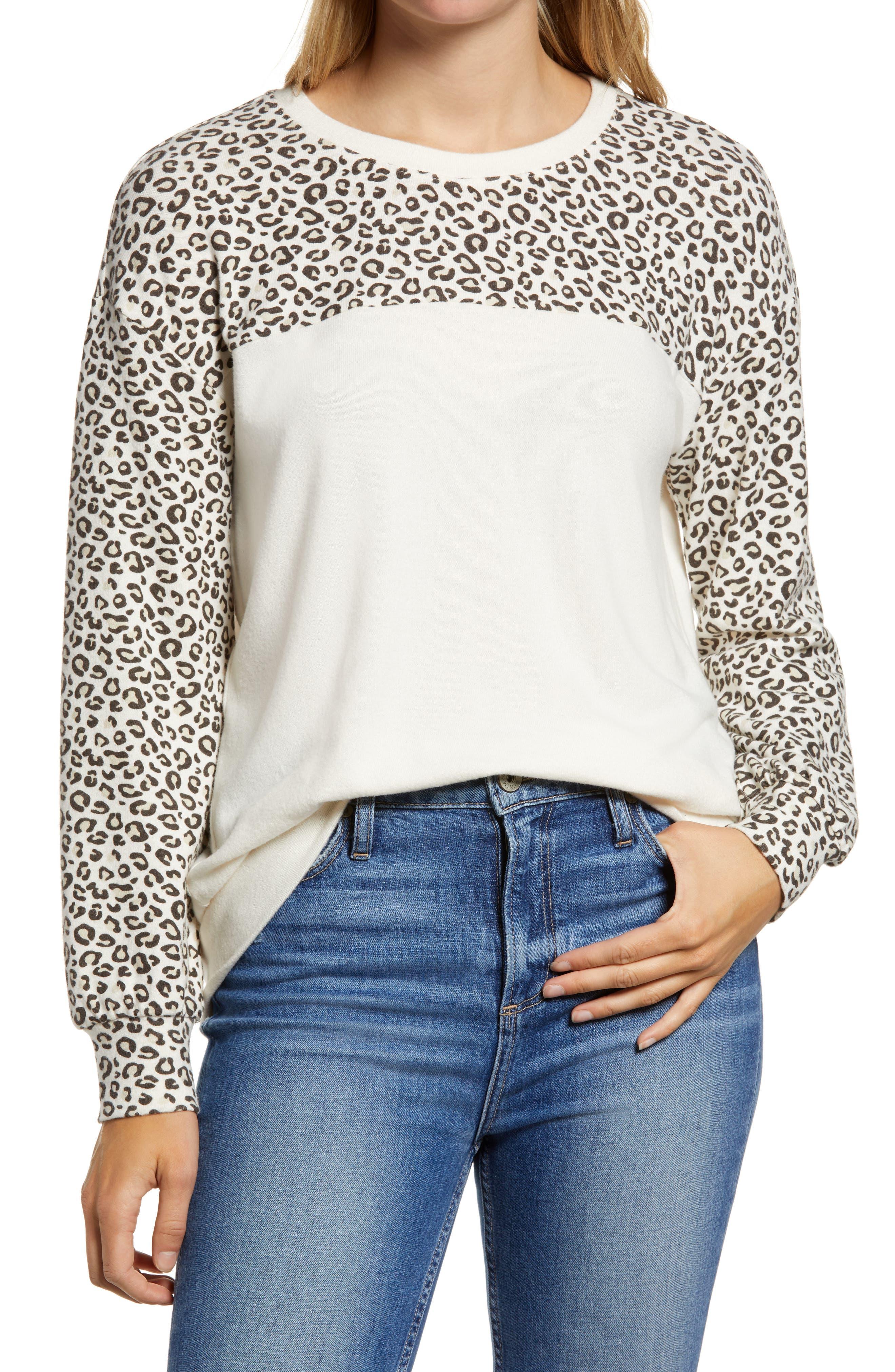 Image of Gibsonlook Colorblock Cozy Semi-Sheer Pullover