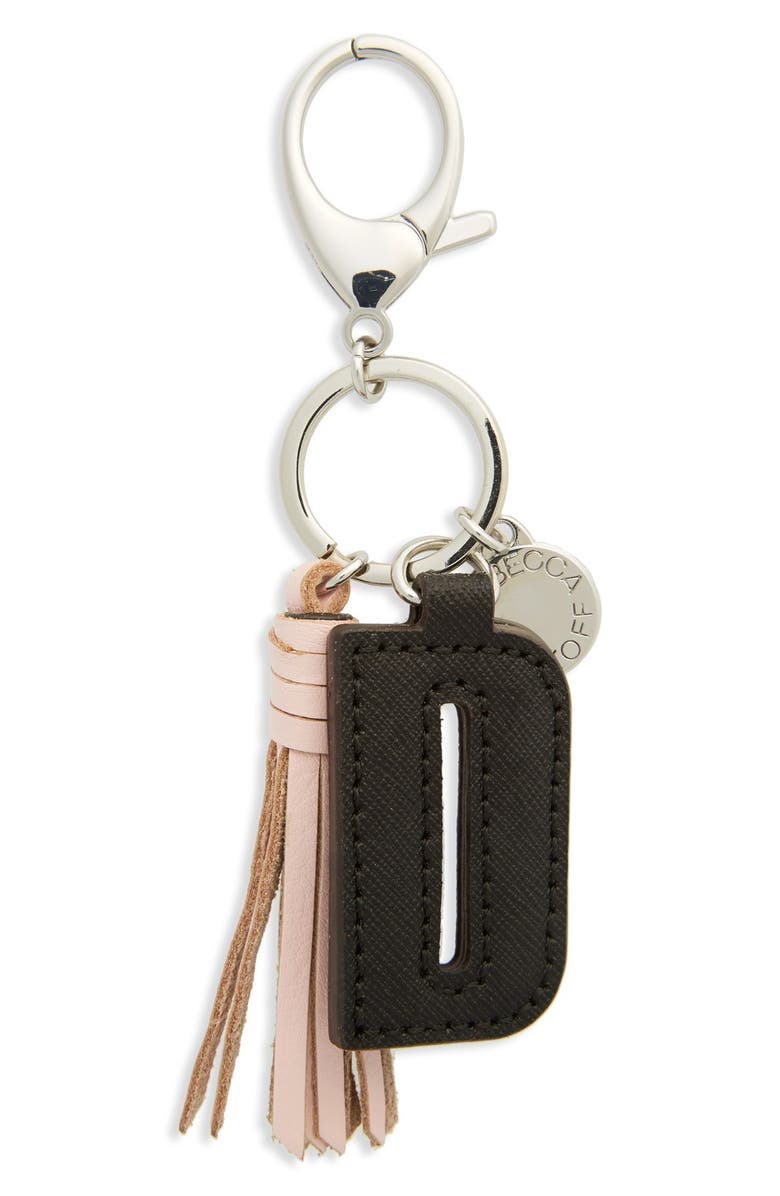 REBECCA MINKOFF Initial Bag Charm, Main, color, 001