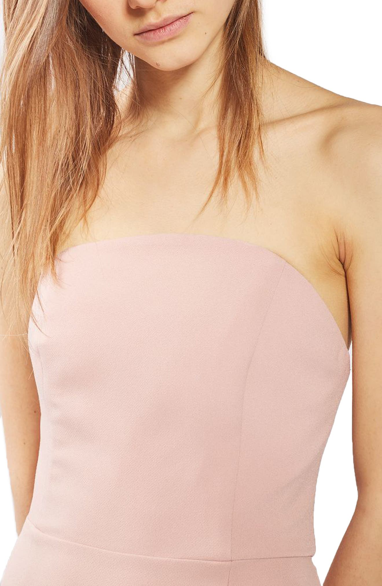 ,                             Strapless Crepe Gown,                             Alternate thumbnail 3, color,                             680