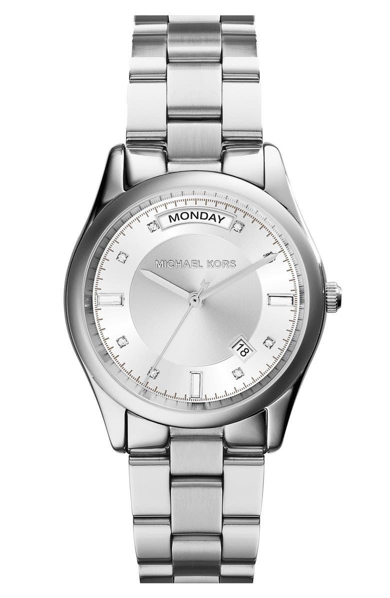 MICHAEL MICHAEL KORS Michael Kors 'Colette' Round Bracelet Watch, 34mm, Main, color, 040