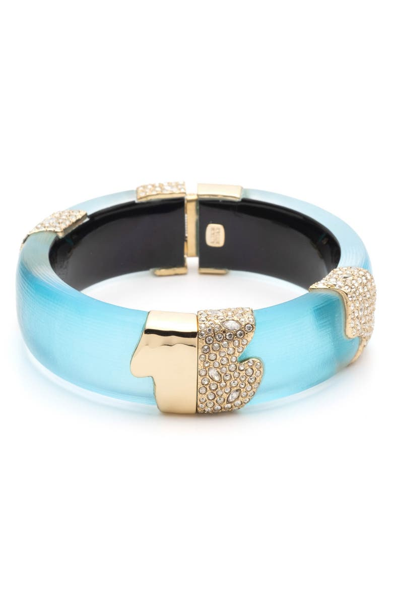 ALEXIS BITTAR Crystal Encrusted Lucite<sup>®</sup> Hinge Bracelet, Main, color, LIGHT TURQUOISE