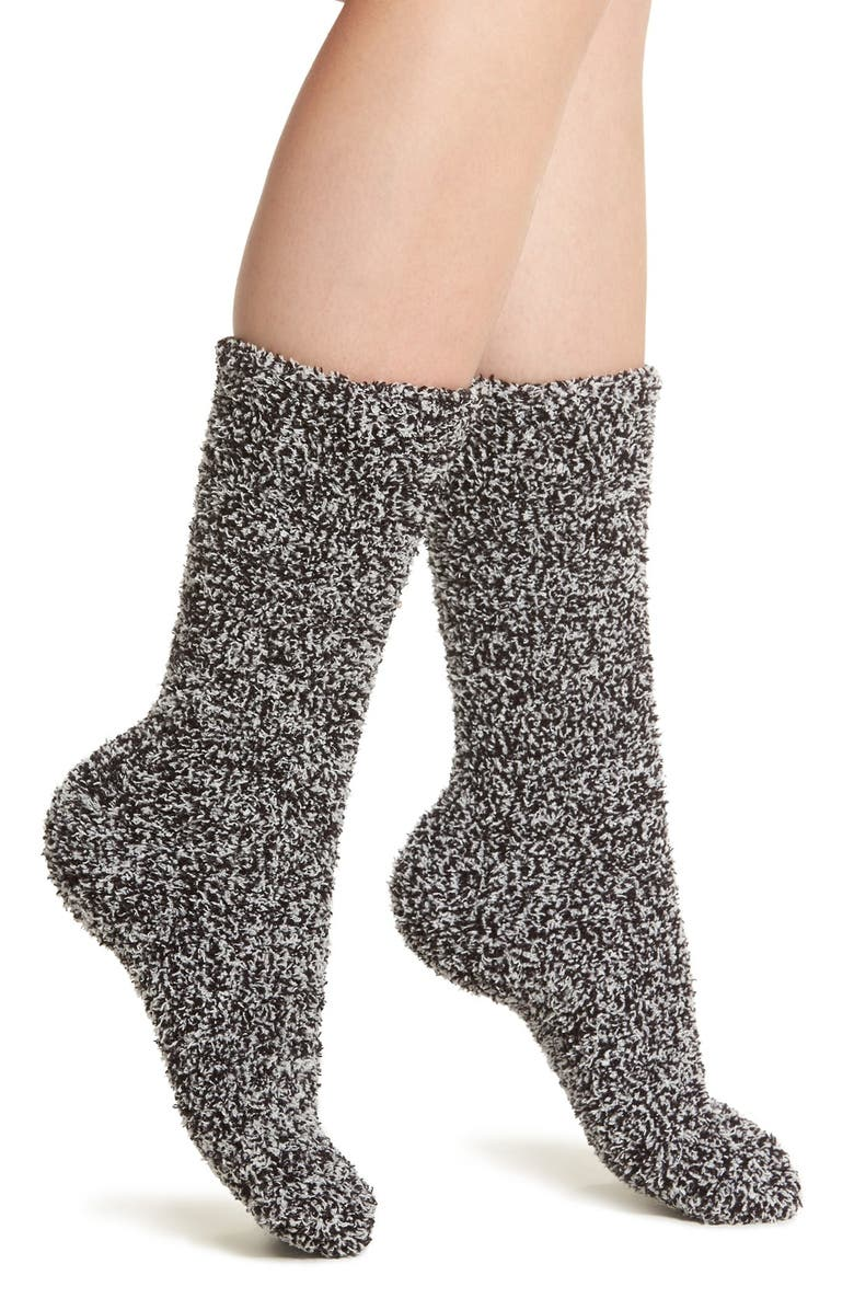BAREFOOT DREAMS<SUP>®</SUP> CozyChic<sup>®</sup> Socks, Main, color, BLACK/ WHITE