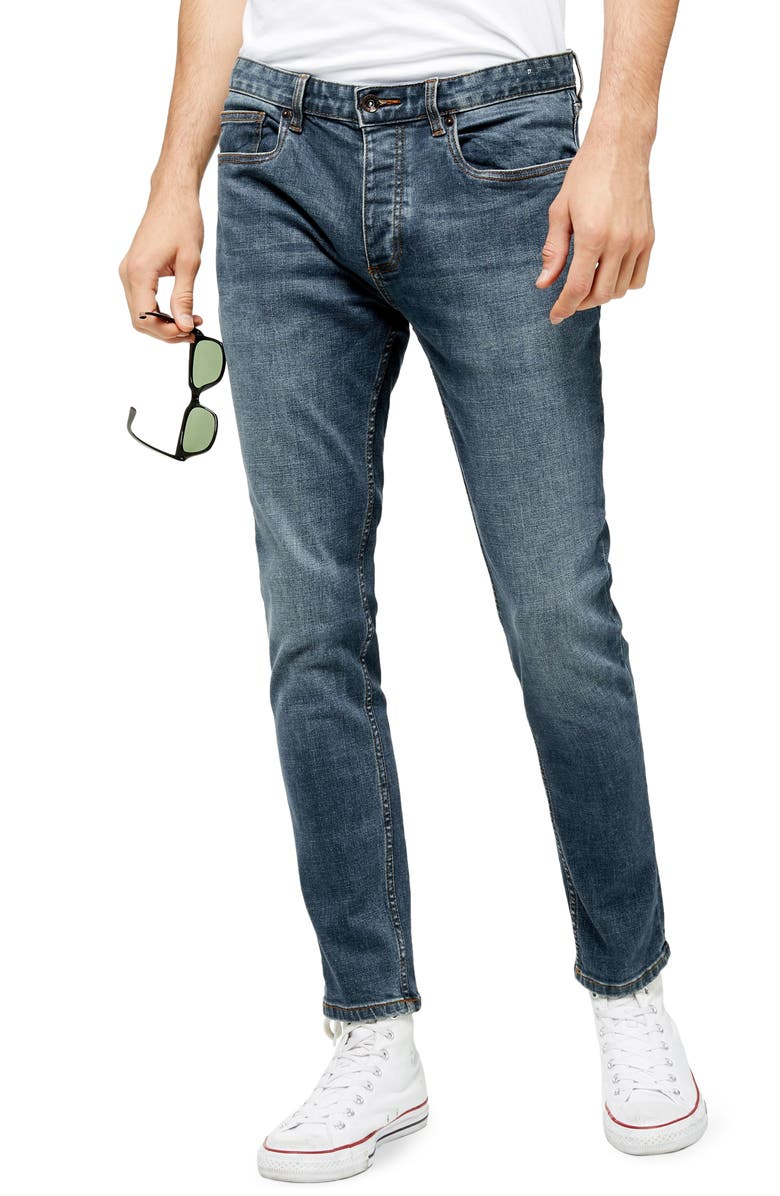 TOPMAN Rainier Skinny Fit Jeans, Main, color, 400