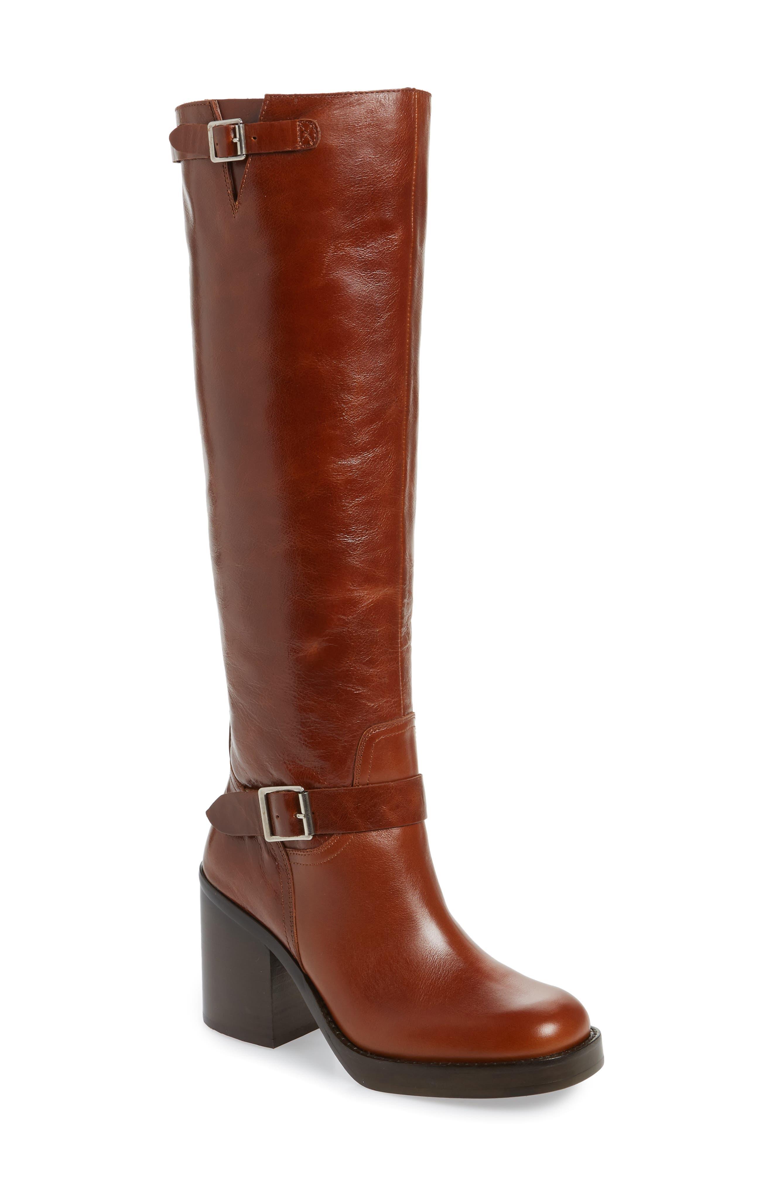 Jeffrey Campbell Lottie-2 Knee High Boot, Brown