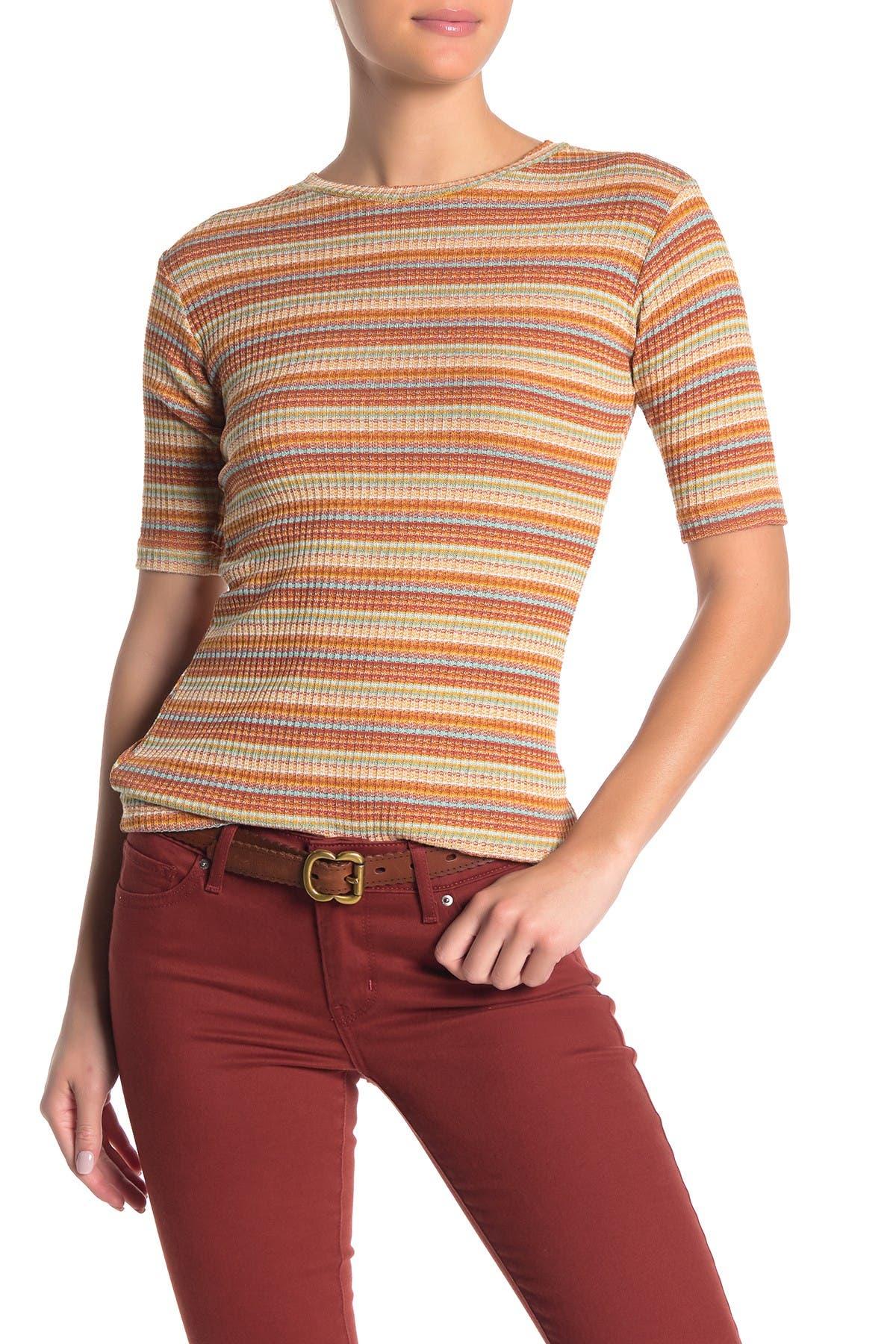 Image of ELAN Striped Knit T-Shirt