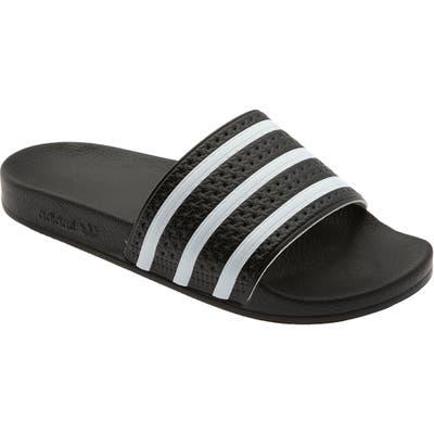Adidas Adilette Stripe Sport Slide, Black