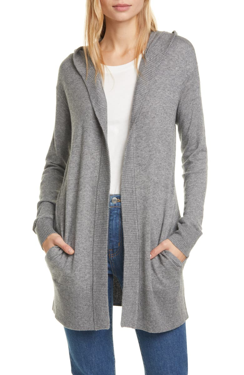 THEORY Aria Hooded Cardigan, Main, color, 020