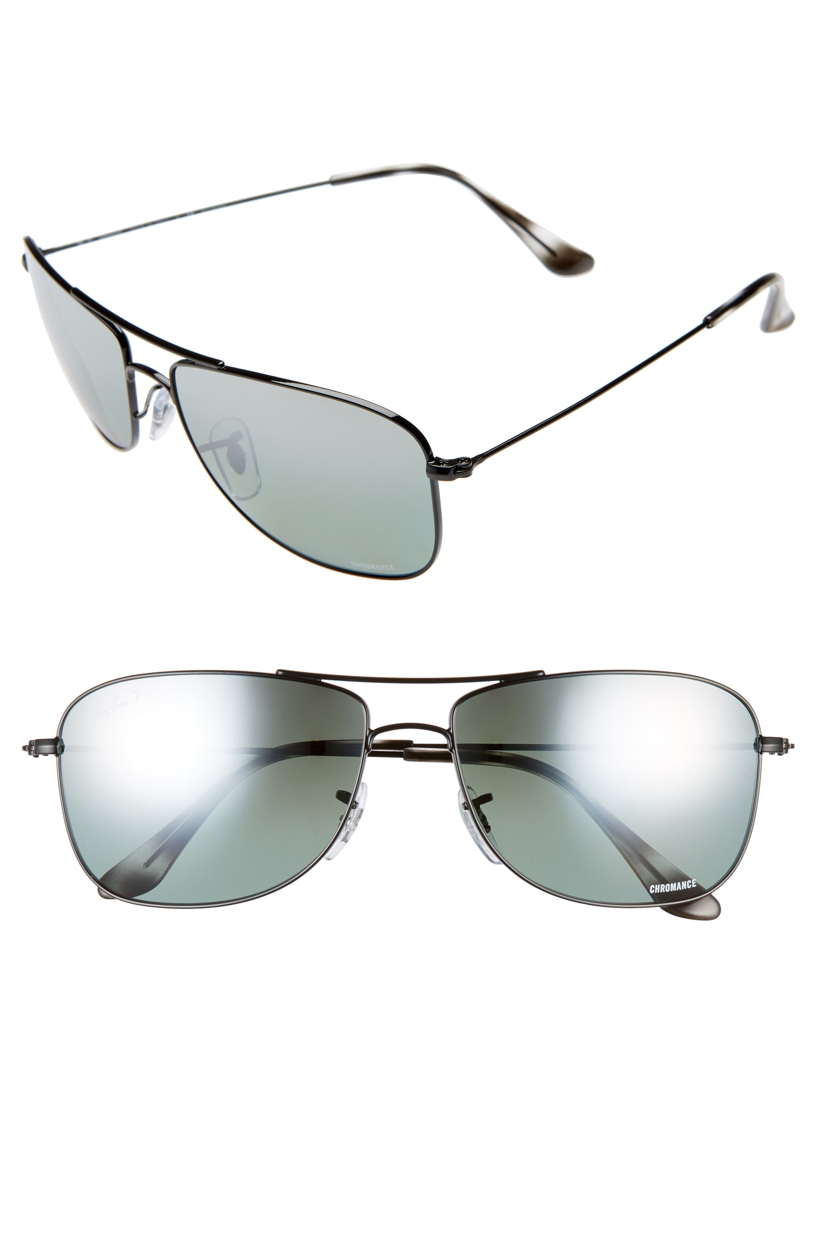 Ray-Ban Tech 5m Polarized Sunglasses - Black Gradient Mirror
