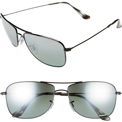 Ray-Ban Tech 5m Polarized Sunglasses - Black Gradient Mirror