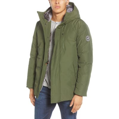 Save The Duck Faux Fur Lined Hooded Parka, Green