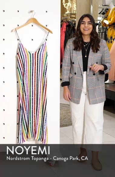 Sequin Stripe Midi Slipdress, sales video thumbnail