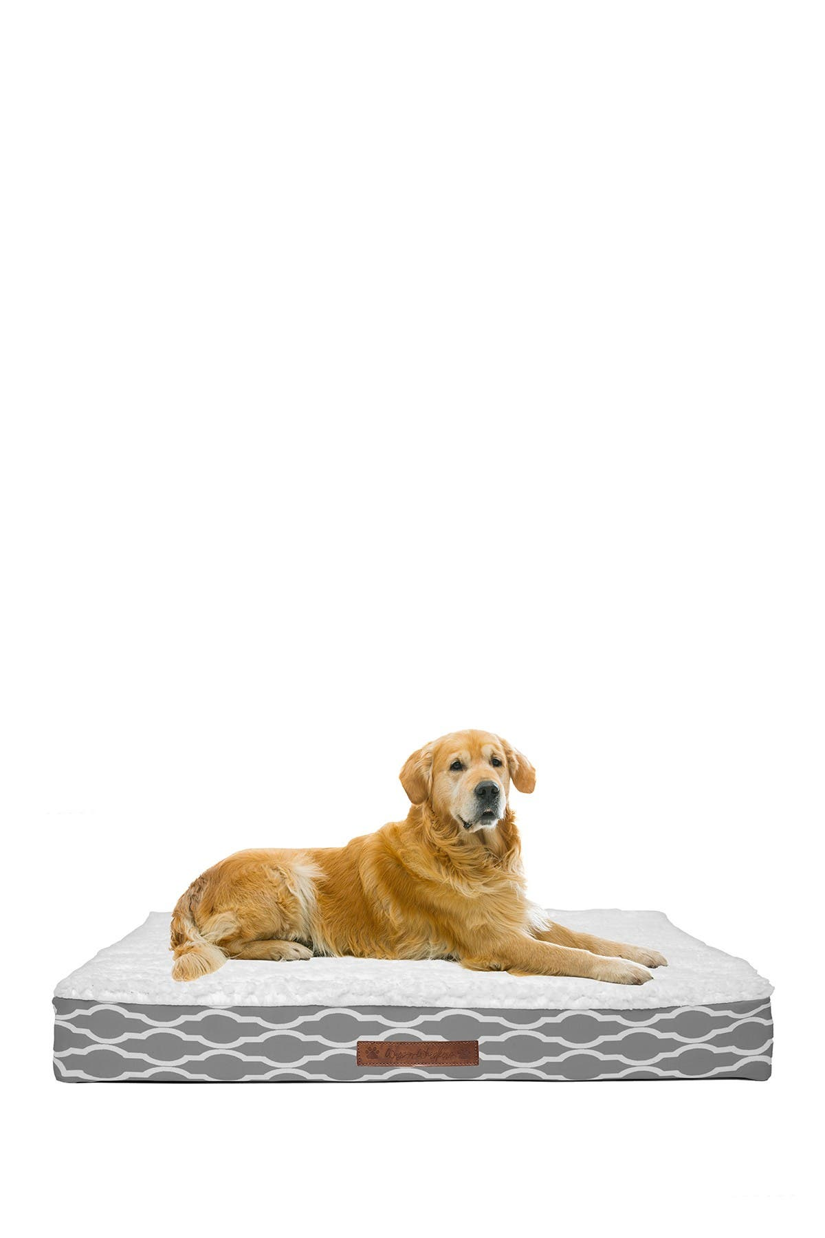 Image of Duck River Textile Trieste Narrow Trellis Jumbo Orthopedic Memory Foam Pet Bed
