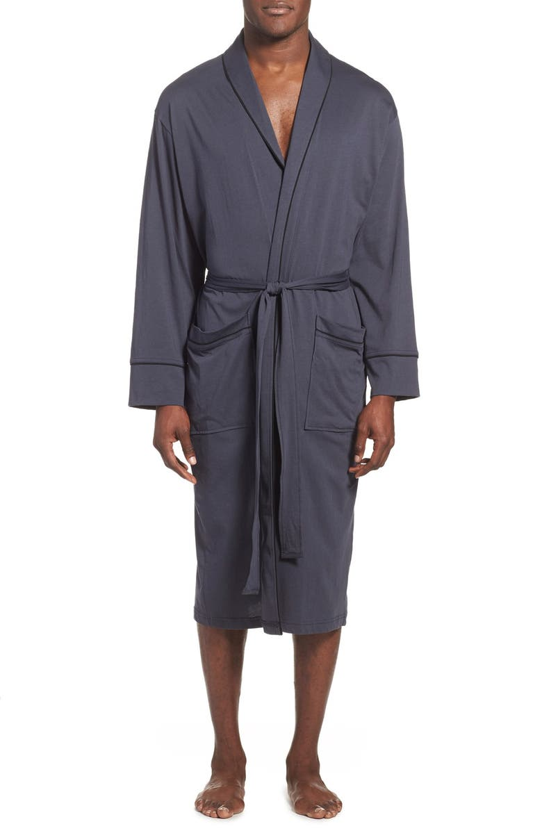 DANIEL BUCHLER Peruvian Pima Cotton Robe, Main, color, INK
