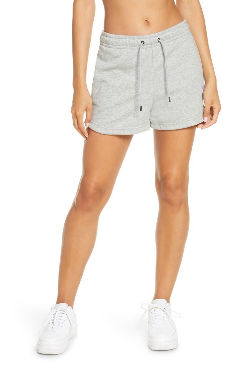NIKE Essential Shorts, Main, color, D GR H/WHITE