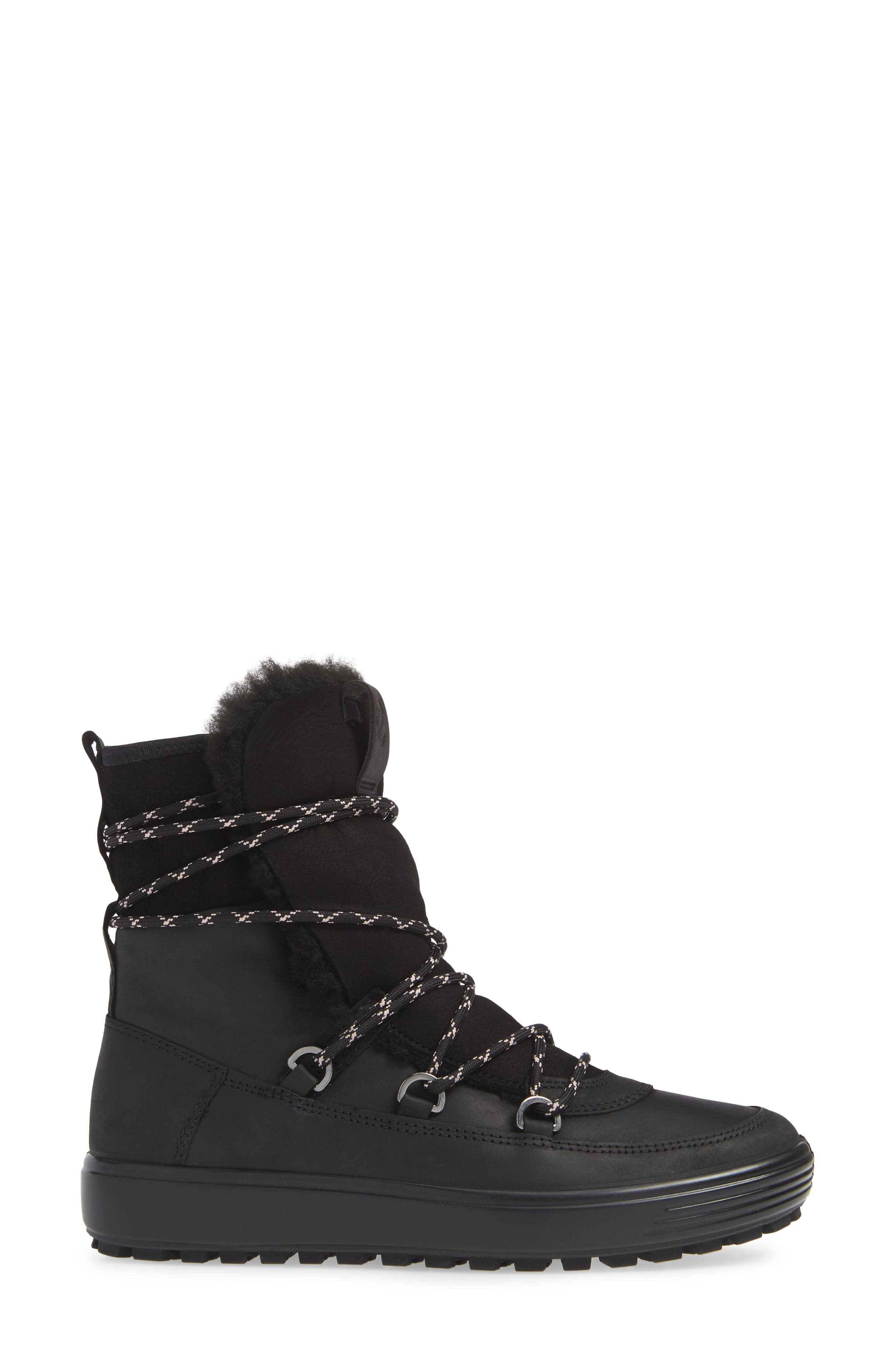 ,                             Soft 7 Tred Waterproof Genuine Shearling Lined Bootie,                             Alternate thumbnail 9, color,                             001