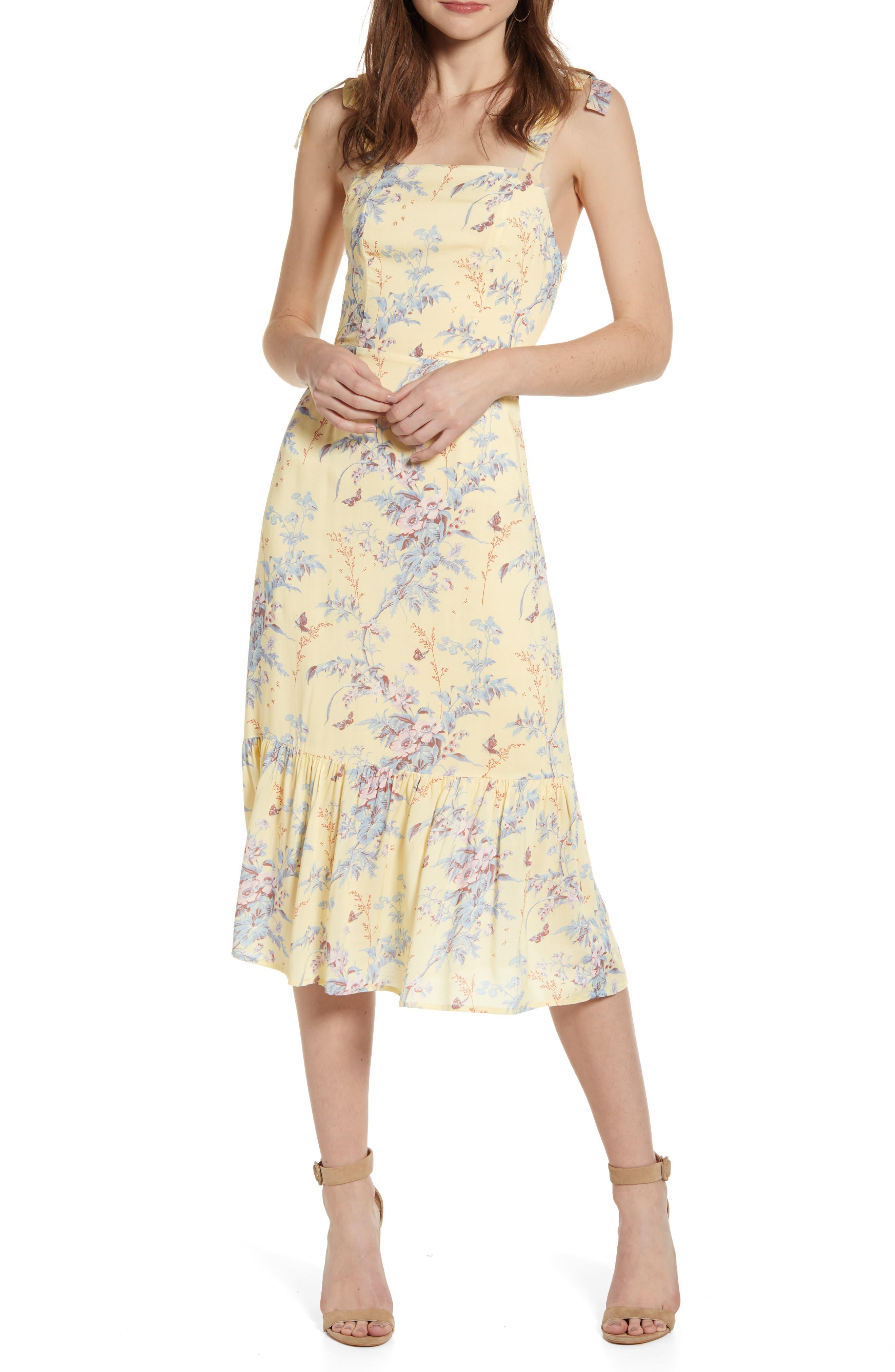 Paige Tolucah Floral Midi Sundress, Yellow